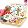 Children Wooden Puzzle Painting Drawing Board Magnetic Animal Education Toys