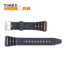 Timex Ironman Rubber Watch Strap 19mm Orange Silk Print