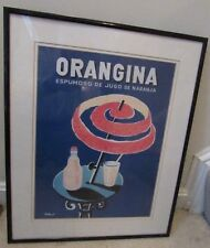 Vintage Original Lithograph of Orangina by VIllemot