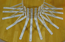 "12 Heavy Duty White Steel 12"" x 8"" Shelf Brackets! 500 Lb Metal Lot L Countertop"