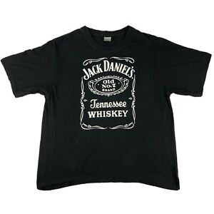 Jack Daniels Old No. 7 Official Black Promo T-shirt Tee Size XL