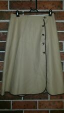 Vintage 1970s Side Button Brown Skirt