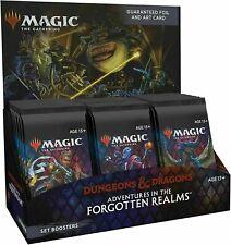 Magic The Gathering D&D Adventures en Forgotten Realms Set Caja del aumentador de presión The Nuevo Sellado De Fábrica
