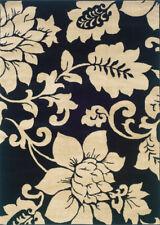 "Sphinx Black 2 x 8 Floral Vines Petal Runner Area Rug - Approx 1' 10"" x 7' 3"""