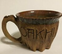 Unique Wood Tree Bark Shaped Ceramic Coffee Mug Cup Oakhurst