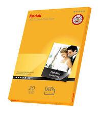 20 Sheets Kodak 280gsm High Gloss A4 Ultra Premium Photo Paper (5740-085)