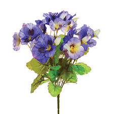 Artificial silk flowers Pansy bunch Pansies purple 10""