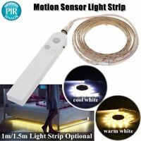 PIR Motion Sensor LED Light Strip Wardrobe Cabinet Closet Bed Battery Operated