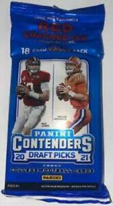 2021 Contenders Draft Picks NFL Football Cello Fat Value Pack - Red Cracked Ice
