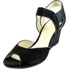 Sandalias y chanclas de mujer de tacón alto (más que 7,5 cm) de color principal negro de ante