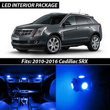 2010-2016 Cadillac SRX Blue Interior LED Lights Package Kit
