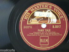 78rpm TOM JONES ORCHESTRA fairy tale / in the shadows , grand hotel eastbourne