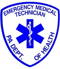 PENNSYLVANIA (PA) STATE CERTIFIED EMT REFLECTIVE DECAL