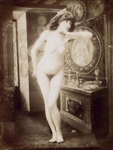 Gaudenzio Marconi Nude woman Large vintage photo Paris 1875c