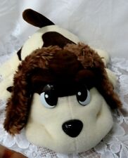 """Talking Pound Puppy 10"""" Pup Puppies Collar Heart Tag Vtg Happy Waggin Plush Dog"""
