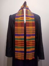 Traditional Multi-color African Kente Cloth Stole, Graduation and Ceremonial