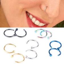 5pcs Stainless Steel Nose Open Hoop Ring Earring Body Piercing Jewelry