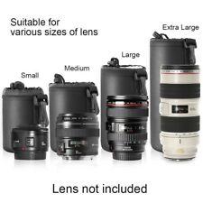 Soft Neoprene S M L XL Lens Pouch Bag Canon Nikon Sony Pentax DSLR Camera