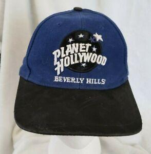Vintage Planet Hollywood Beverly Hills Hat Blue Adjustable rare Film History