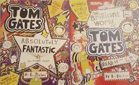 Tom Gates 2 Books Collection Set By Liz Pichon Brand New Free P & P