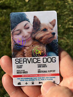 SERVICE DOG ID CARD FOR SERVICE ANIMAL  - PORTRAIT STYLE  / LARGE PICTURE