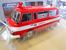 BARKAS Bus Van B 1000 B1000 Kleinbus DDR Feuerwehr 1965 NEU MCG 1:18