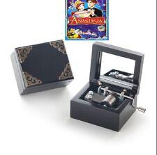 Vintage Black Wood  Hand crank Music box  ♫ Anastasia - Once Upon A December ♫