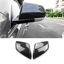 2PCS For Cadillac ATS-L 2014-18 Carbon Fiber ABS Side Rearview Mirror Cover Trim