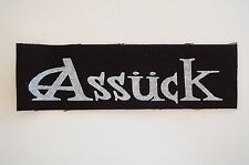 """Assuck Cloth Patch Sew On Badge Punk Rock Misery Index Nausea Approx 6""""X2"""" (CP98"""