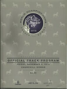2010 - Breeders Cup @ Churchill Downs programs for 11/5 & 11/6 in MINT Condition