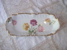 Antique T&V Rectangular Dish Tressemanes & Vogt 8515 Rose Pattern 12 x 5 Serving