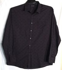 A[X]ist Mens Button Down Long Sleeve Dress Shirt Size XLarge Color Black~Gray