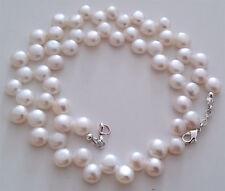 """Naturelle d'eau douce collier de perles, 16"""" de long."""