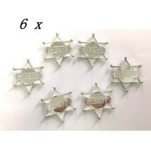 WESTERN PARTY SUPPLIES PLASTIC DEPUTY SHERIFF BADGE BADGES SHEILDS (PACK OF 6)