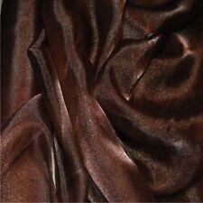 Dark Brown Crystal Organza Curtain Wedding Dress Fabric 150cm wide FREE P+P