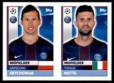 Topps CL 2016-17 PSG12/PSG13 Thiago Motta/Krychowiack PSG