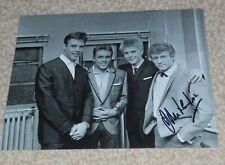 JOHN LEYTON-  - 10x8  PHOTO SIGNED -With Marty Wilde, Joe Brown, Billy Fury  (4)