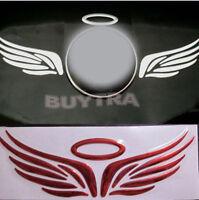 Hot Red 3D Angel Fairy Wing Car Truck Logo Emblem Badge Decal Sticke OZ