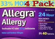 Allegra 24Hr Allergy Relief Tablets, 180mg, 30+10 Bonus, 4 Pack 041167412145A156