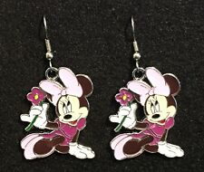 Minnie Mouse Earrings Disney Surgical New Pink Bow (B)