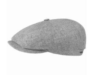 STETSON Hatteras Ellington Flat Cap Grey Mottled L 7 3/8 NEWSBOY Gatsby 8/4 Hat