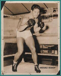 ARTURO GODOY - Chilean Heavyweight Boxer - Original Vintage Photo - 1940