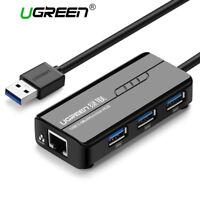 Ugreen Gigabit Ethernet 3 Port USB 3.0 2.0 Hub RJ45 Netzwerkadapter für MacBook