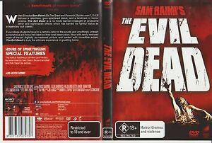 The EVIL DEAD (1981) R18+ Most Gruesome Grindhouse Movie Ever DVD Reg 245 HORROR