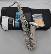 Professional Satin nickel plated C Melody sax saxophone highF# FREE Strap +2neck