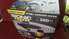 Bionic Steel Metal 100 Foot Garden Hose Heavy Duty 304 Stainless Steel