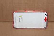 """Red Mobile Phone Case Silicon Soft Plastic Rubber Case - iPhone 6 4."""" Screen"""