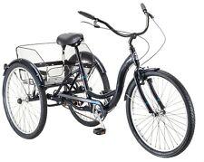 "Adult 24"" Mackinaw Comfortable Tricycle w/ Rear Storage Basket, Black"