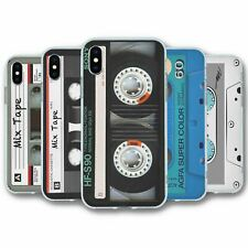 For iPhone X & XS Silicone Case Cover Cassette Collection 1