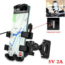 Eight-Claw Design Motorcycle Handlebar Mount GPS Cell Phone Holder USB Charger